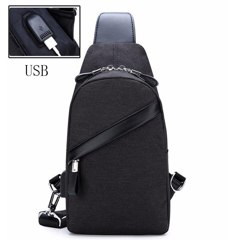 2018 New Arrival Men Oxford USB Charging Crossbody Fashion Casual High  Quality Chest Bag Short Trip Messengers Male Shoulder Bag Fiorelli Handbags  Patricia ... 67aba9a0ad25d