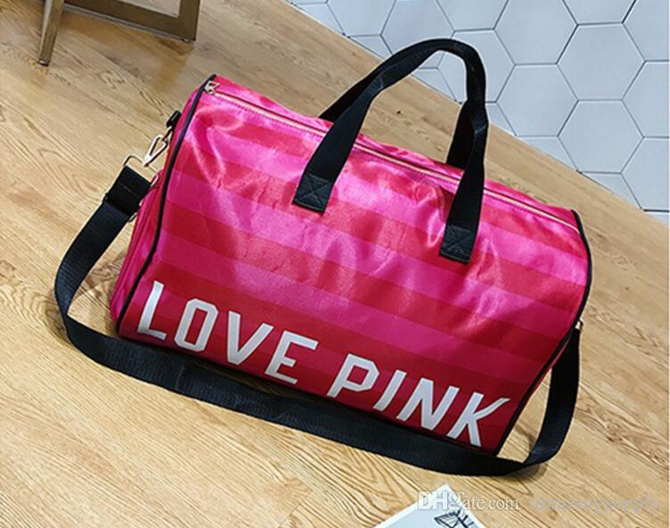 Pink Letter Duffel Bags Women Handbags Large Capacity Travel Duffle Bags  Waterproof Beach Bag Shoulder Bag CCA8195 Pink Bags Travel Bags Pink Totes  Online ... d63cac4b85