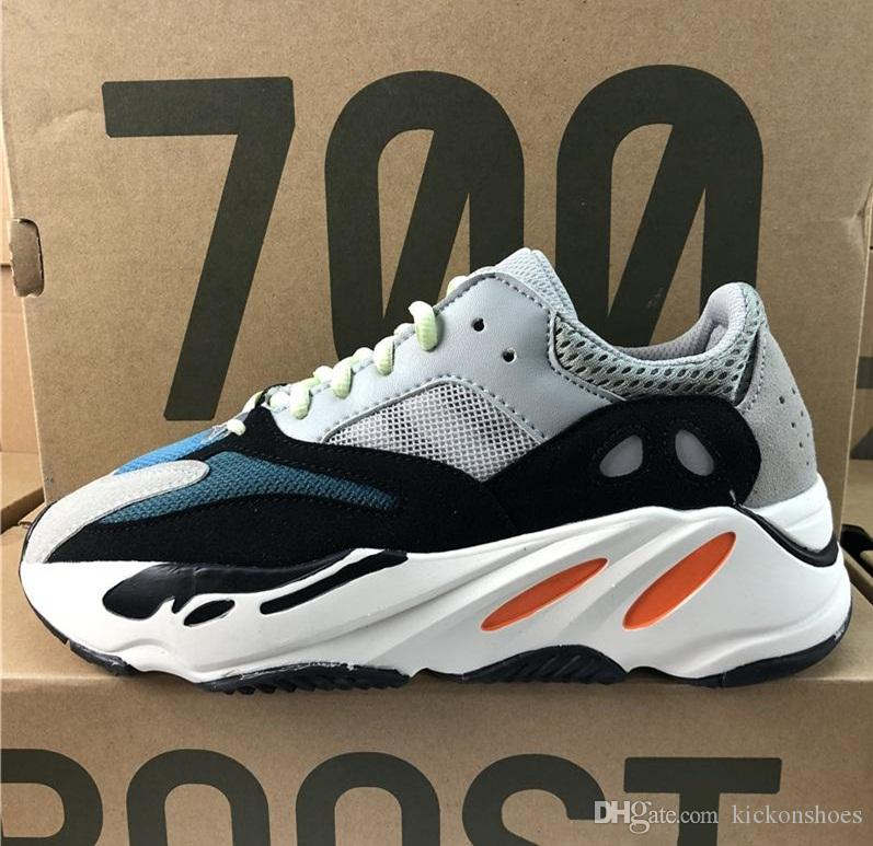88f2a5c56 Wave Runner 700 Kanye West Running Shoes White-core Black Authentic ...