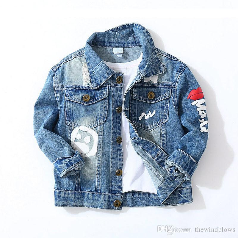 692a42b4f Toddler Boys Denim Jacket Kids Clothes Autumn 2018 Children Long ...