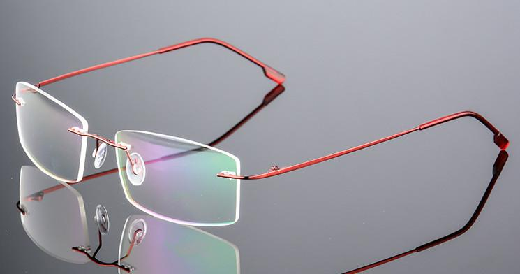 c3f18a889bfd 2019 Ultra Light Female Titanium Myopia Glasses Women Rimless Nearsighted  Glasses Finished Prescription Red 0.50 To 6.00 From Mandarin18