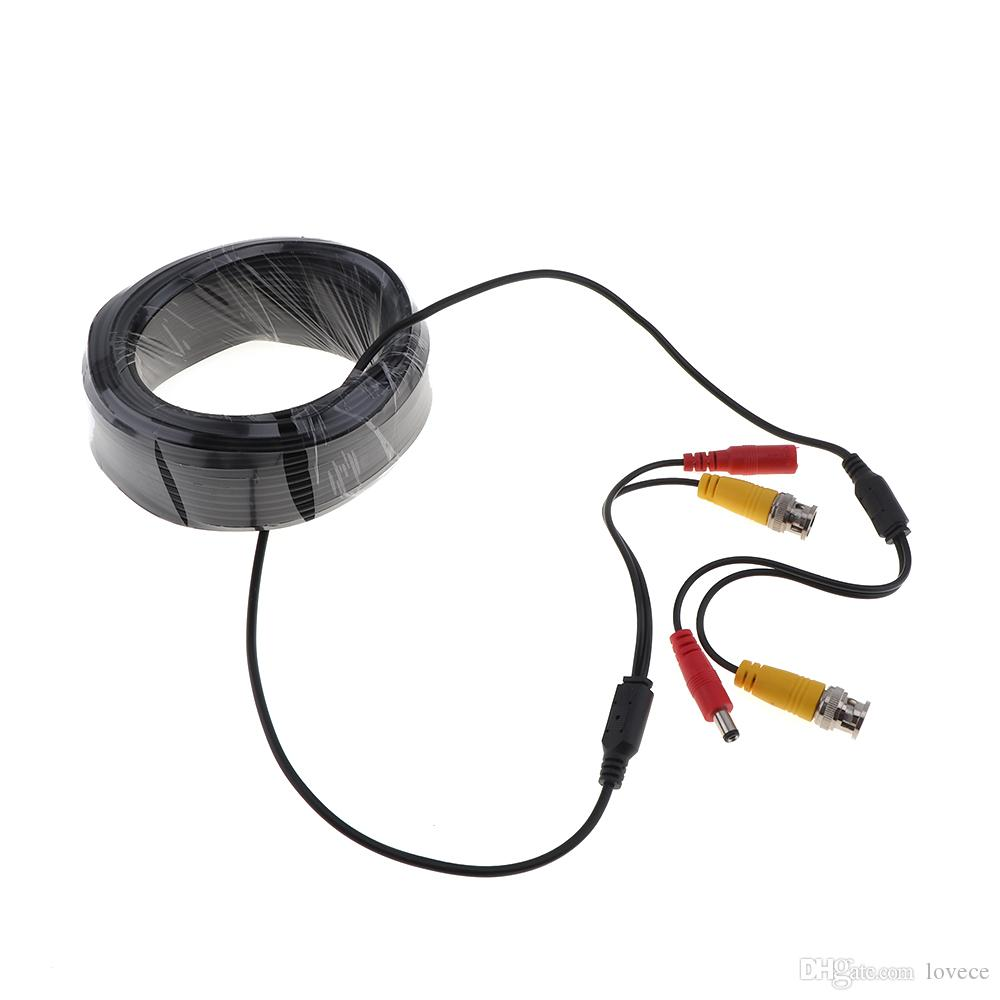20m Video Power Cable CCTV Security Camera Extension Wire DVR BNC RCA Cord CCT_206