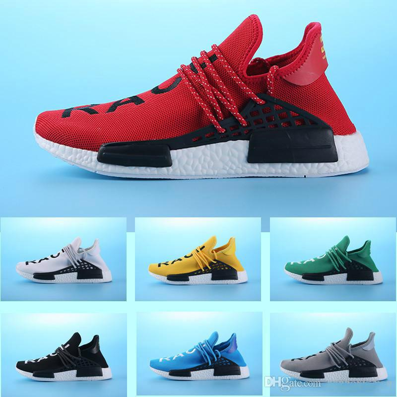 e49baf546 2018 Hot Sale Cheap Nmd Human Race Pharrell Williams X Men S   Women S  Fashion Casual Shoes Black Red Runner Shoes Indoor Soccer Shoes Oxford Shoes  From ...