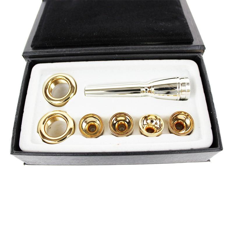 새로운 Bb 트럼펫 마우스 피스 고품질 / 2C 3C 2B 3B 다용도 T 어댑터 전문 Bb 트럼펫 골드 래커 노즐
