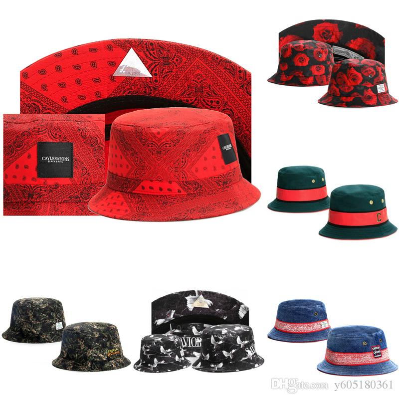 2019 2018 Men Women Snapback Bucket Hats Summer Designer Dad Hats Cayler    Sons Beach Mens Hat Baseball Cap Brand Sun Protection Hat Red Blue From ... c75737977c1