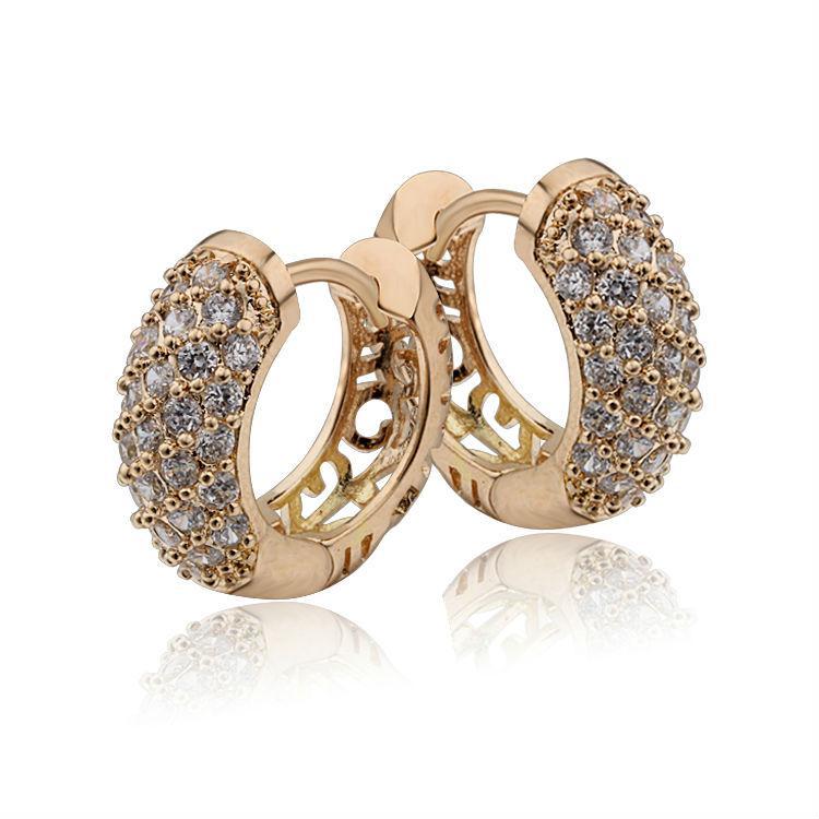 4d5dc7c8e 2019 Earring Hook Wholesale Gold Color CC Hoop Earrings Bijoux Women ...
