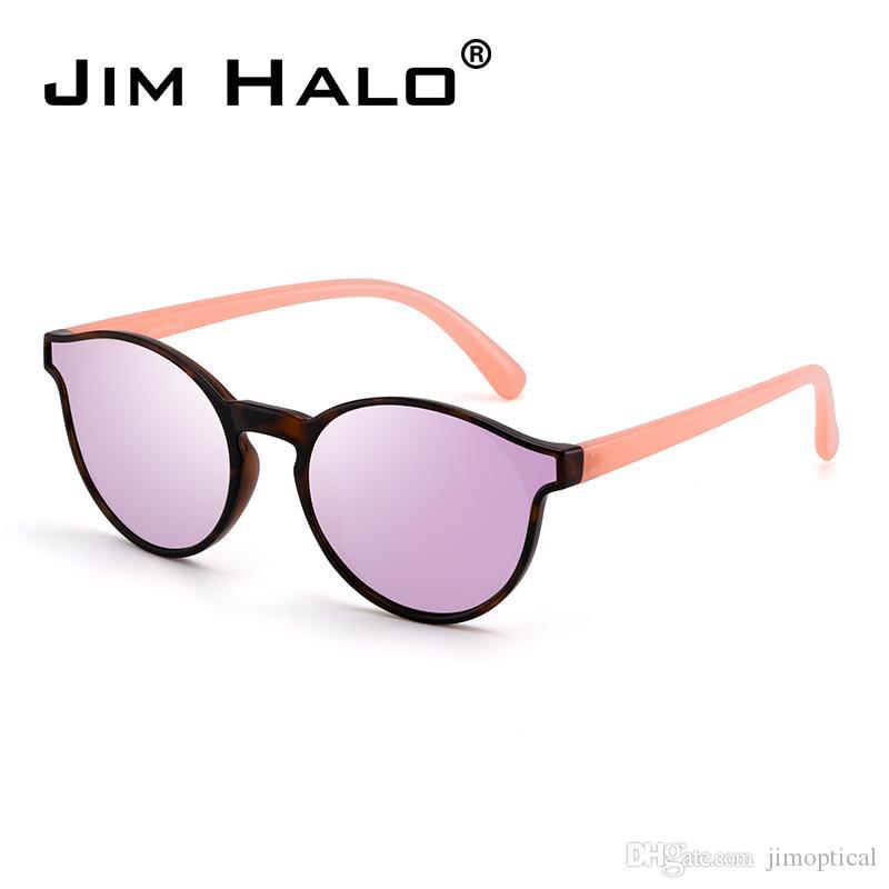 89ff4221527 Jim Halo Round Mirrored Sunglasses Fashion Circle Tinted Flat Shades Lens  Men Women Sun Glasses Brand Designer Round Sunglasses Retro Steampunk  Sunglasses ...