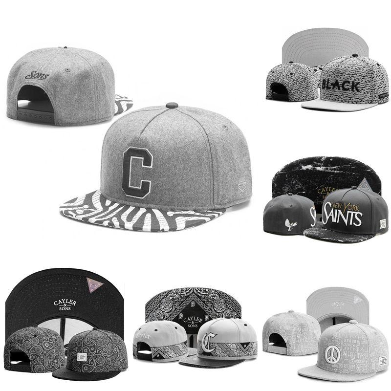 b88f5195179 Gray Hip Hop Snapback Cayler And Sons Mens Hat Baseball Caps Hats Firred  Men Women Hat Golf Casquettl Street Dance Cap 24 Styles Custom Hats Mens  Hats From ...