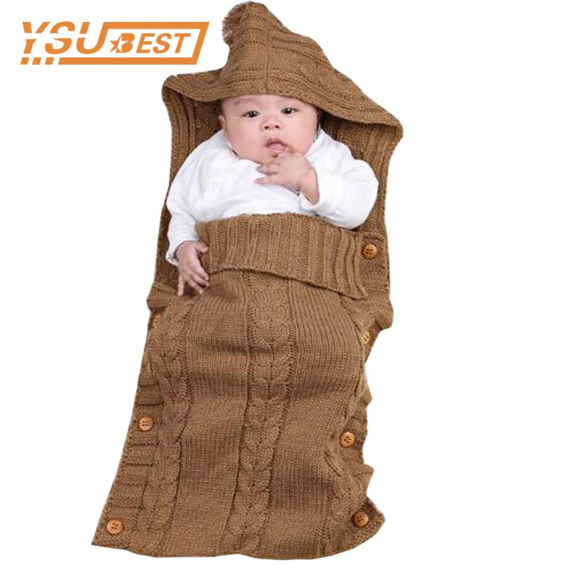 2e9a09fd8 Newborn Sleeping Bag 0 12M Baby Boy Girl Kids Toddler Knit Blanket ...