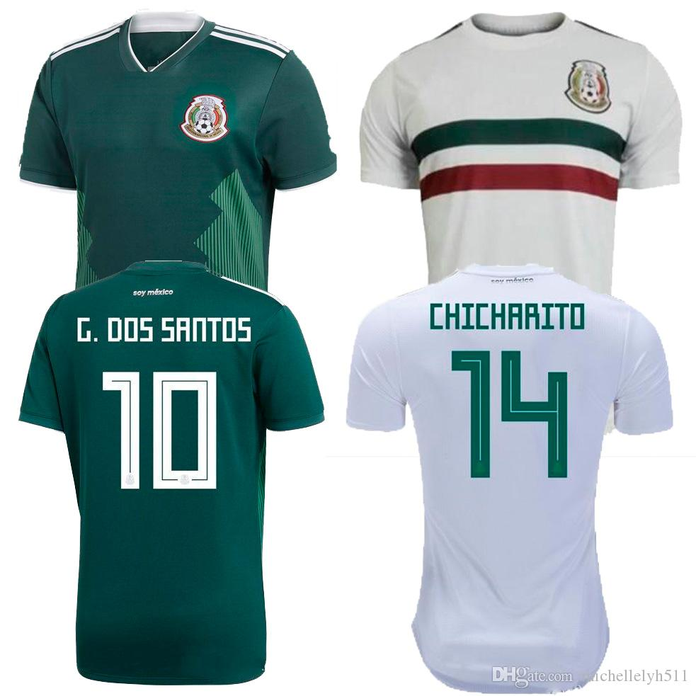 6eae2747c 2019 MEXICO Soccer Jersey 2018 World Cup CHICHARITO LOZANO DOS SANTOS LAYUN Football  Shirts Adult Home Away Top Thai Quality Mexico Jersey Wears From ...