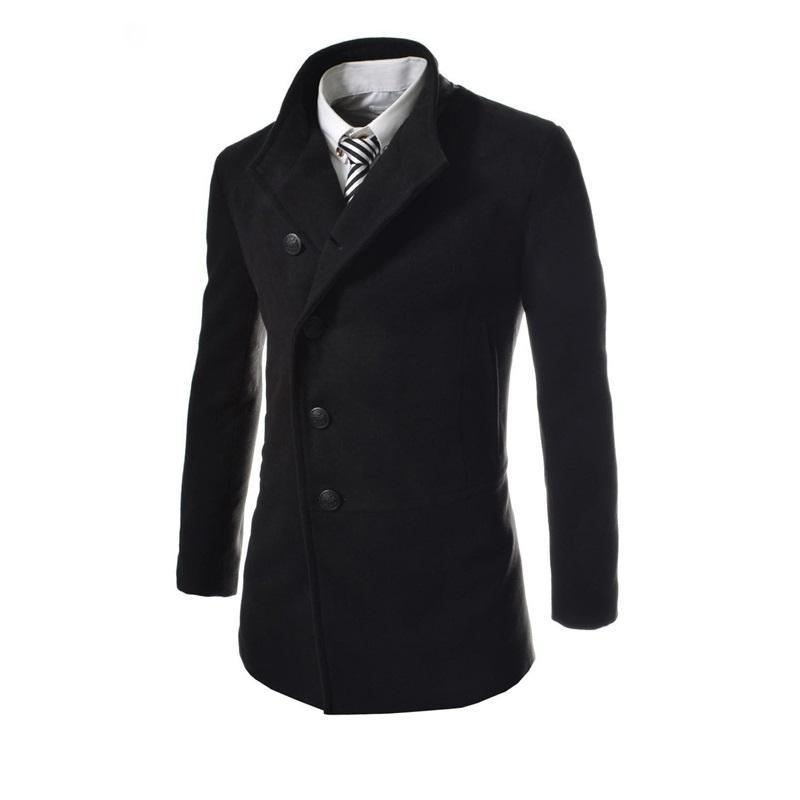 171aff7a40c Winter Autumn Men Warm Slim Jackets Long Sleeve Single-breasted ...