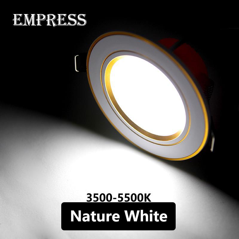 LED Downlight Lamba 5 W 220 V Değiştirilebilir Renk Tavan Gömme Downlight Yuvarlak Spot LED Panel Işık Banyo Ev İç Aydınlatma