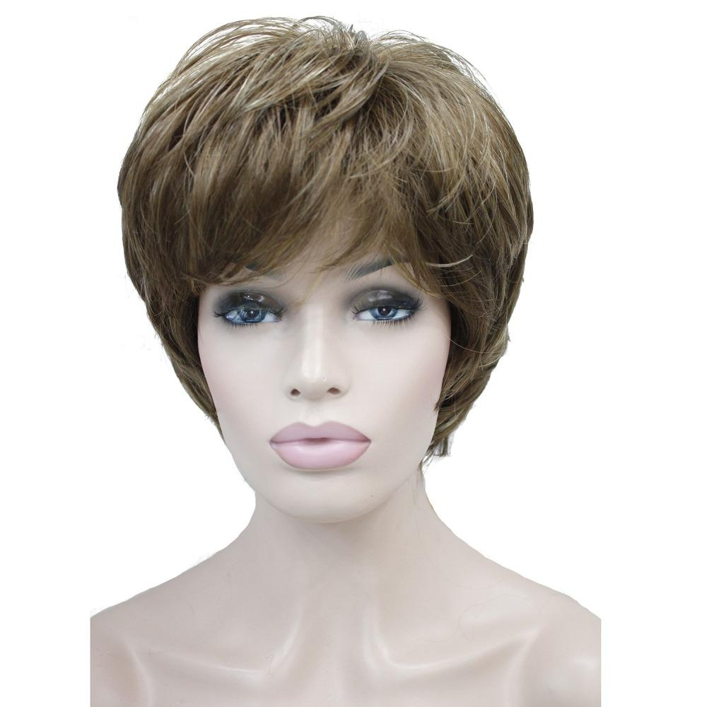 StrongBeauty Women S Wigs Natural Fluffy Ash Blonde Short Straight Hair  Synthetic Full Wig Wig World Ladies Synthetic Wigs From Stylinghair d5fbe0421