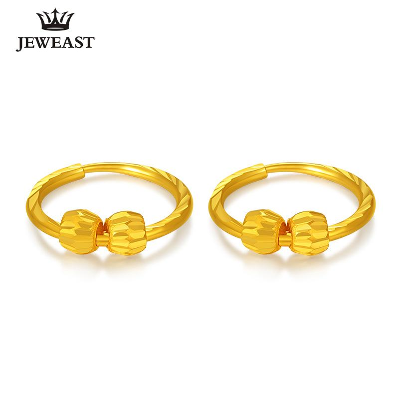 74d12a2956a48 24K Pure Gold Earring Real AU 999 Solid Gold Earrings Simple Beads Upscale  Trendy Classic Party Fine Jewelry Hot Sell New 2018