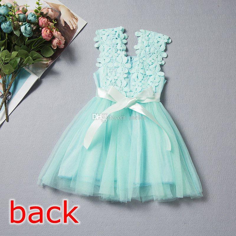Lowest Price summer girls lace dress girls Lace Crochet Vest Dress sundress Princess Girls sleeveless crochet vest Lace dress choose