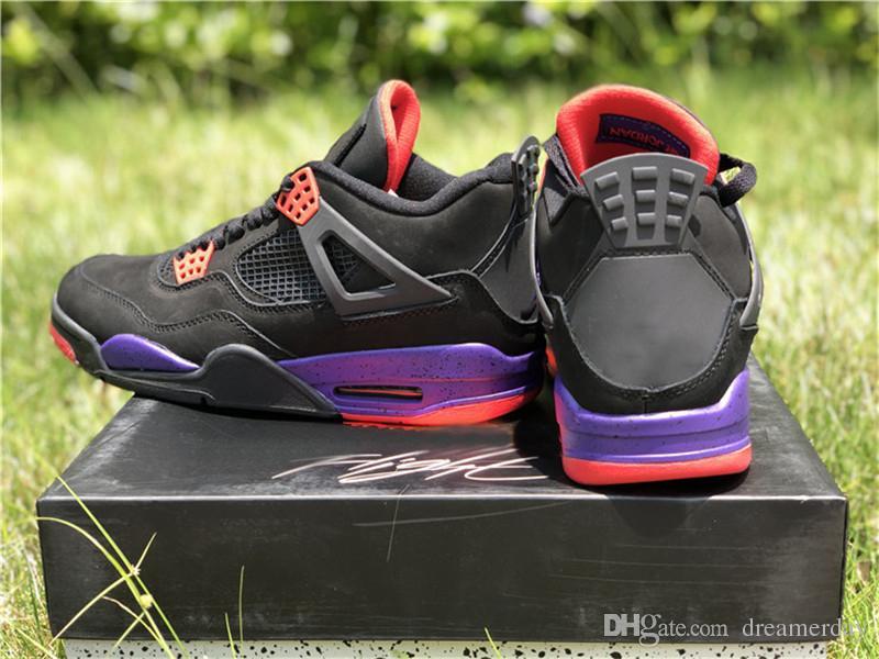 online retailer c2766 0160e 2018 Newest NRG 4 Raptors Drake Raptor 4S IV Basketball Shoes For Men Black  Purple Red AQ3816-056 Authentic Quality With Original Box 40-47