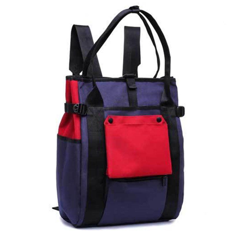 ce5a9c841e University Student School Bags Waterproof Backpack Stitching Fashion New  Teens Bolsas Travel Laptop Bag Contrast Color Leisure Handbag Mens Backpacks  Swiss ...
