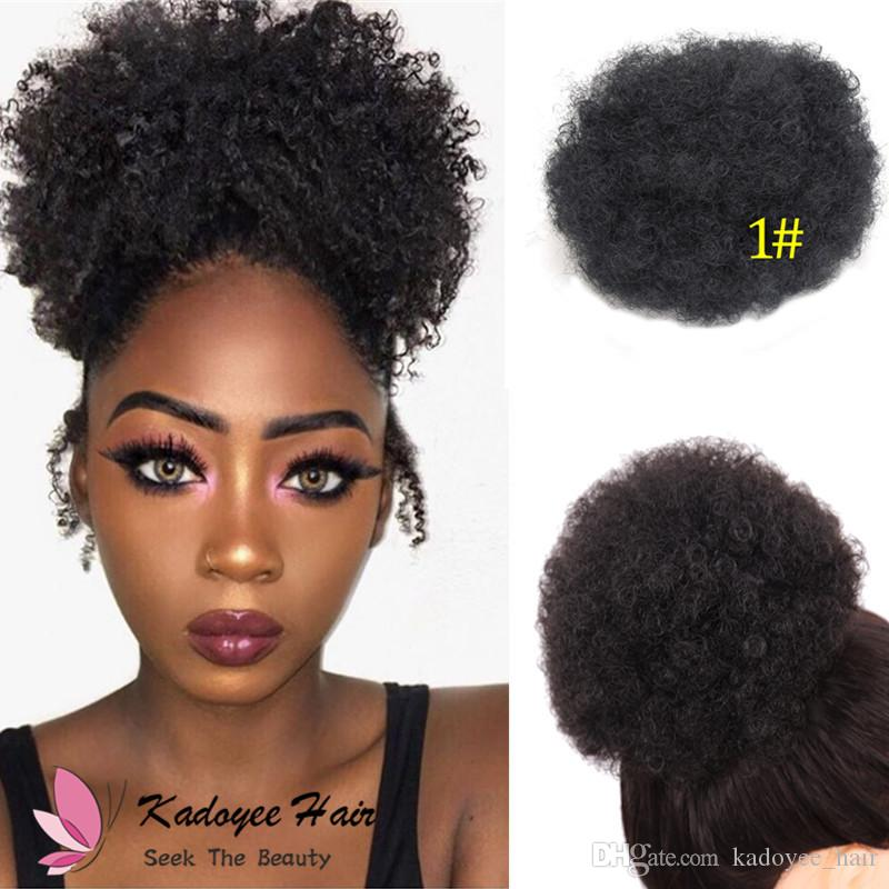 9eb8839420 Kadoyee Synthetic Afro Curly Chignon Hair Updo Hair Bun Donut Extension  Messy Dish Scrunchie Scrunchy Color Variation Short Hair Pieces Side  Chignon ...