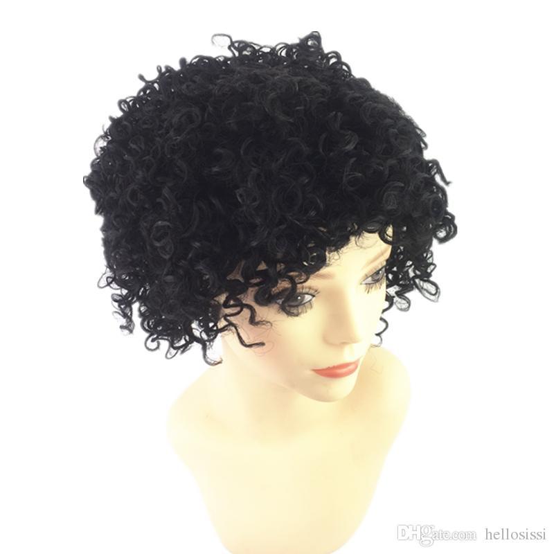 Short bob kinky curl wig Brazilian Human Hair short bob style Wave wigs For black women in stock