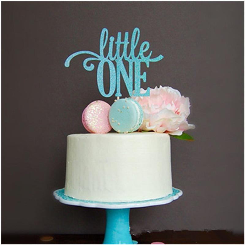 2019 Glitter Blue Little One Cake Topper Boy First Birthday Party Decoration For Graduation Supplier From Homegarden 2465