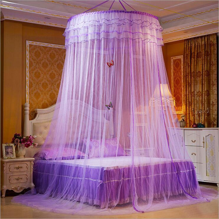 New Design Hung Dome Mosquito Net Princess Insect Bed Canopy Netting