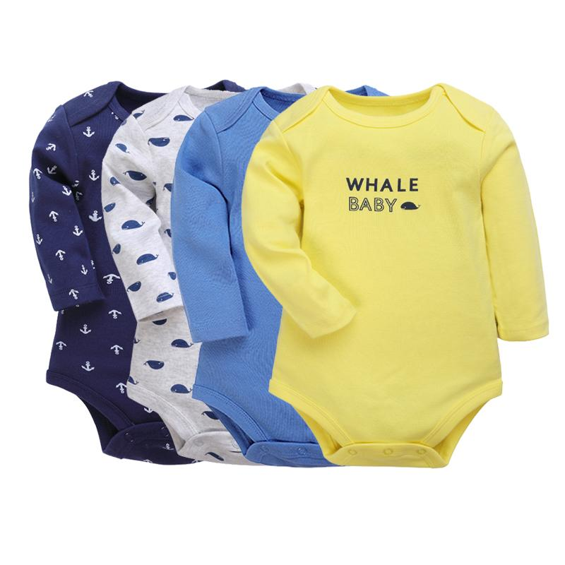 cc90f9423 2019 Baby Bodysuits 0 2 Years Little Boys Body Long Sleeve Clothes ...