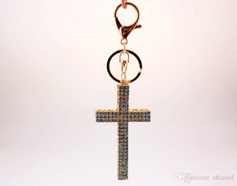 Cross Luxury Rhinestone Keychain Womens Keychains Bag Charm Jewelry Car Key  Chain Holder Party Gift Wedding Favors Leather Tassel Keychain Plastic Key  Tags ... d9d08716e0