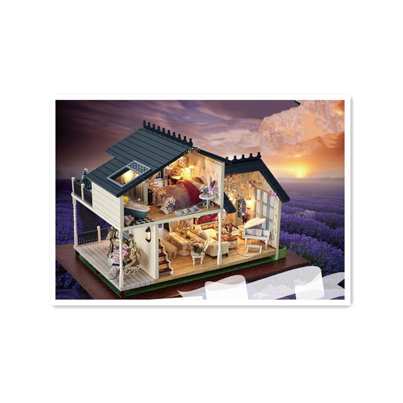 Provence Juguetes Regalo Estilo Modelos Madera Kit NiñosNuevo Para Construcción De Muñecas Bricolaje Montaje Casa kiXuOPZ