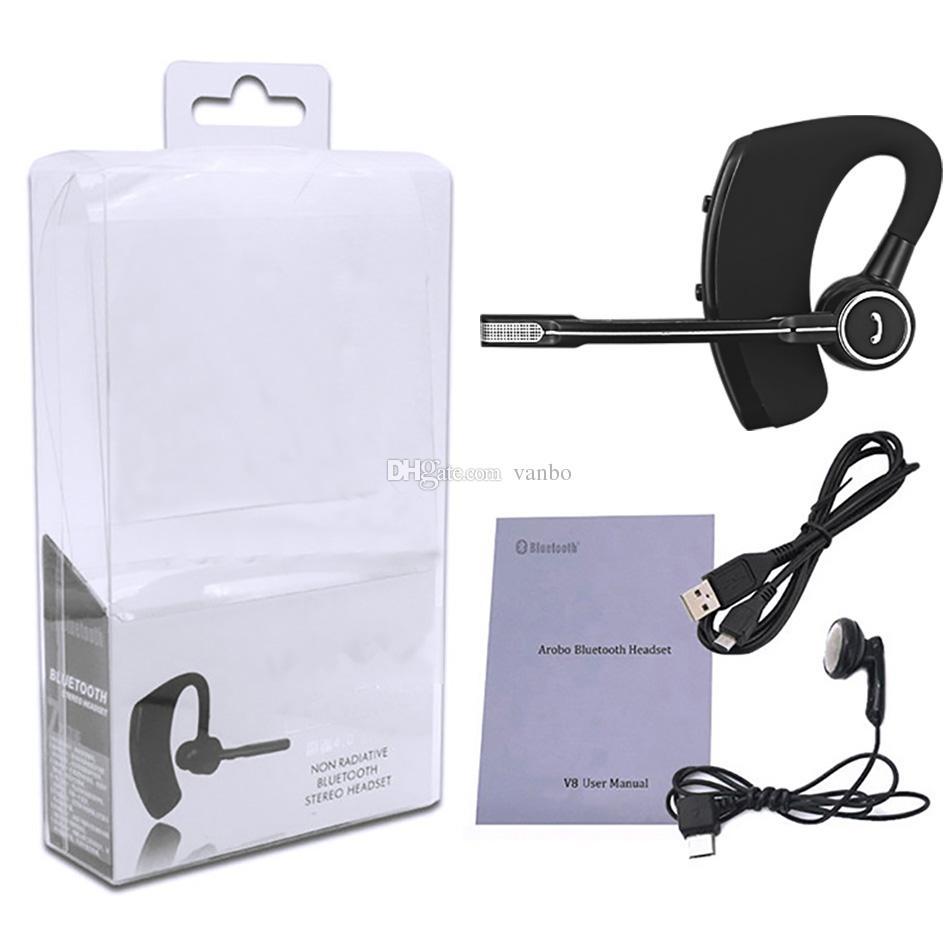 V8 V8S Auriculares Bluetooth Auriculares inalámbricos Manos libres Auriculares Bluetooth V4.1 Legend Auriculares inalámbricos estéreo para Samsung Huawei en paquete