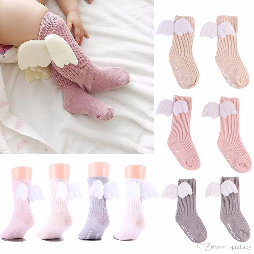 683b75852 0 4Y Cotton Baby Cute Knee High Socks 3D Angel Wings Kids Toddler Candy  Color Soft Sock Children Leg Warmers Merino Wool Socks Travel Socks From  Spinbaby