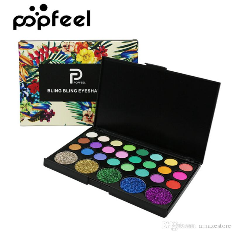 74b2b7c5c0c2 POPFEEL Eyeshadow Palette Eyes Makeup Set 29 colors Cosmetic Make up Eye  Shadow Powder Matte Shimmer Nude Smoky Eyeshadow Palettes