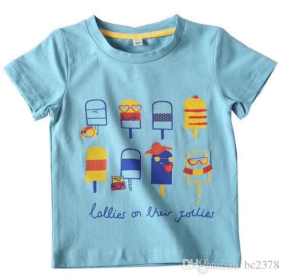 e2a895807861e Acheter T Shirt Bâton De Crème Glacée De Garçon T Shirts Modèles Vifs  Fournissent 2 Types De Couleurs Tissu De Coton Doux Grande Exécution De   62.55 Du ...