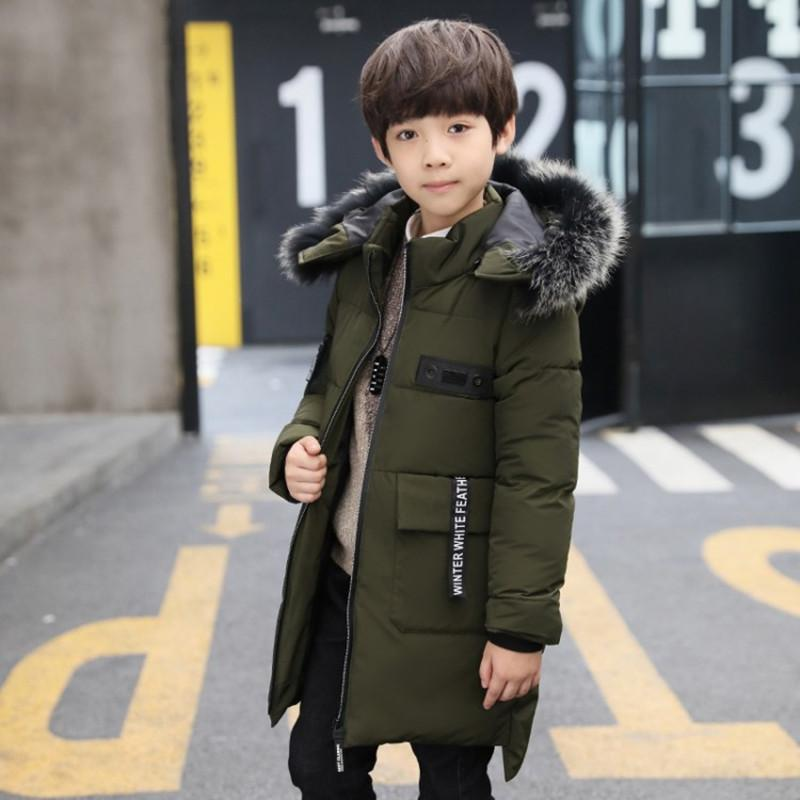 94ac8d1052ac Winter 2019 Children Winter Jackets New Hooded Casual Thick Warm ...