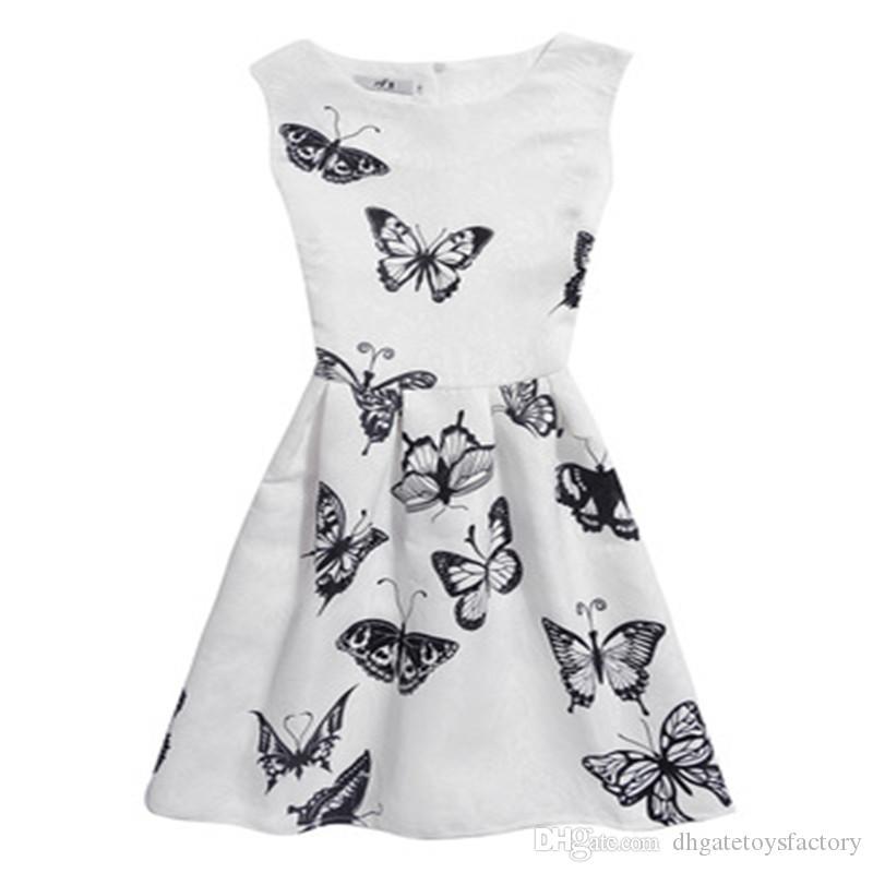 Новое прибытие элегантные девушки - Line юбка для детей партии одежды Лолита выше колена цветочные платья прекрасная юбка Бесплатная доставка