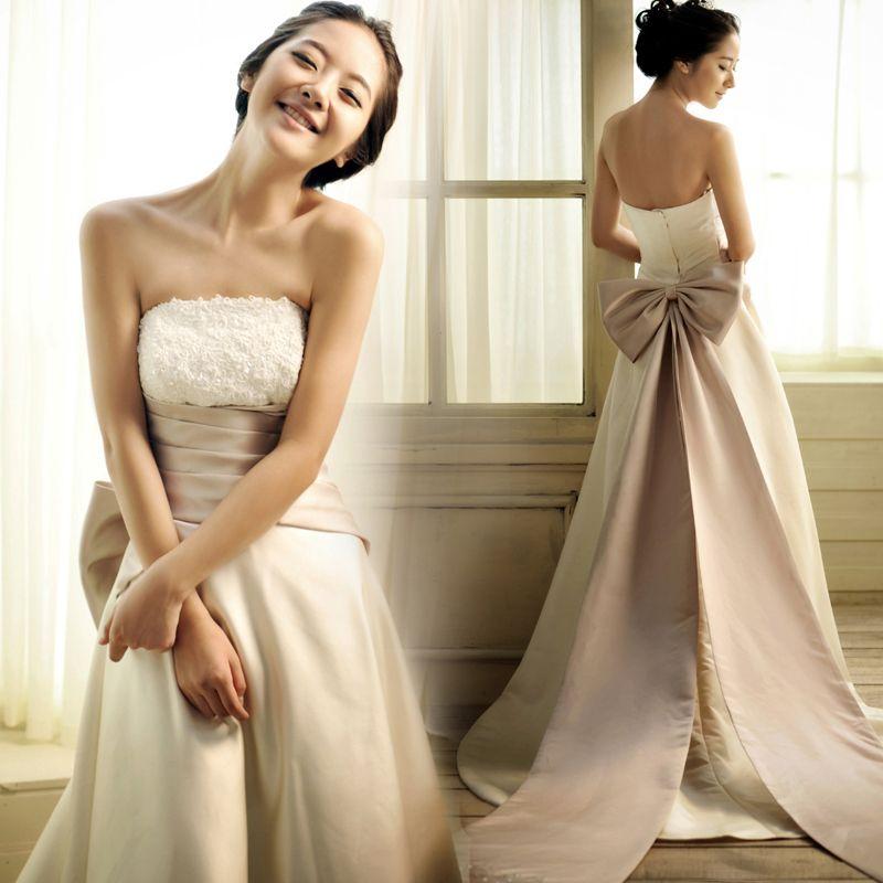 2018 Elegant Simple A-Line Wedding Dresses Strapless Off Shoulder ...