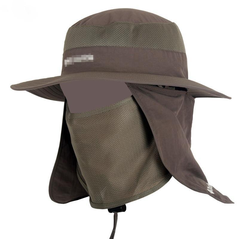 f506f67cc5f0 2019 Unisex Fisherman Mesh Bucket Hat Men Wide Brim Round Camping Sun Hats  Women Hiking Neck Flap Cap Mosquitos Protection From Huiqi02