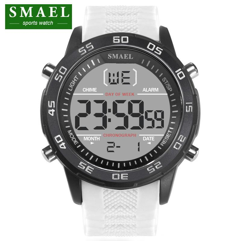 2018 New Brand Smael Fashion Watch Men G Style 50m Professional Waterproof Sports Military Watches Shock Luxury Analog Digital Men's Watches Digital Watches