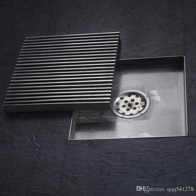 New 6 Inch Square Shower Floor Drain - Made of 304 Stainless Steel ...