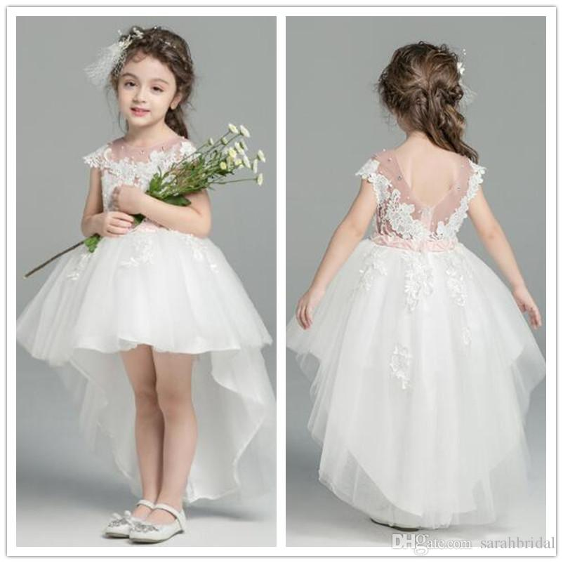 Neu White Flower Girls Kids Pageant Dresses Formal Occasion Tiers Beaded  Cupcake Prom Party Baby Toddler Little First Communion Tulle Gowns Girls  Cheap ... ce37bfa22503