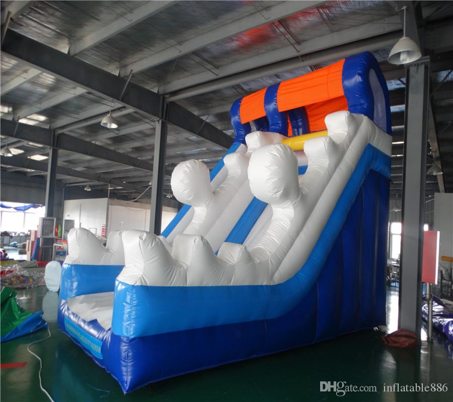 sea wave PVC commercial use inflatable slide inflatable bouncer slide for kids and adults