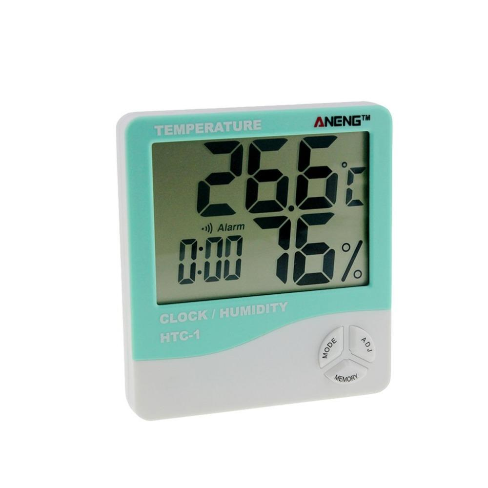 2019 htc 1 indoor lcd electronic digital temperature humidity meter2019 htc 1 indoor lcd electronic digital temperature humidity meter room thermometer hygrometer alarm clock weather station from qiangweiflo,