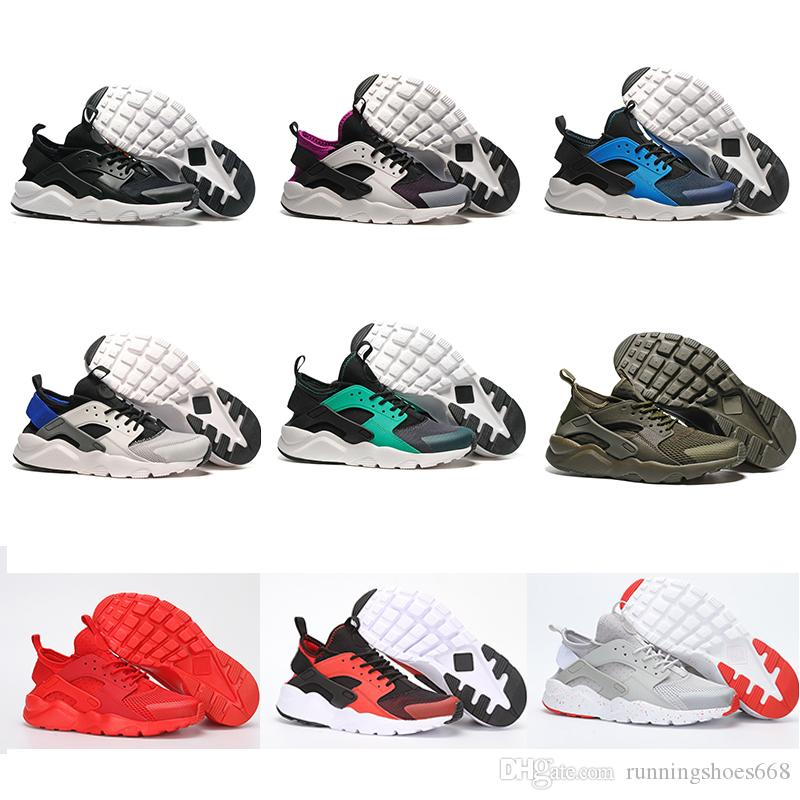 1ef811aac943 2018 New Air Huarache 4 IV Ultra Casual Shoes For Men Women All Red ...