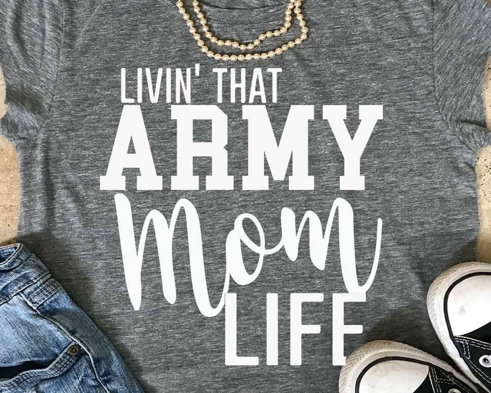 ac48034c Women'S Tee Livin That Army Mom Life T Shirt Fashion Mother Days Gift Tee  Slogan Grunge Aesthetic Cotton Casual Funny Vintage Shirt Goth Top Cloth T  Shirt ...