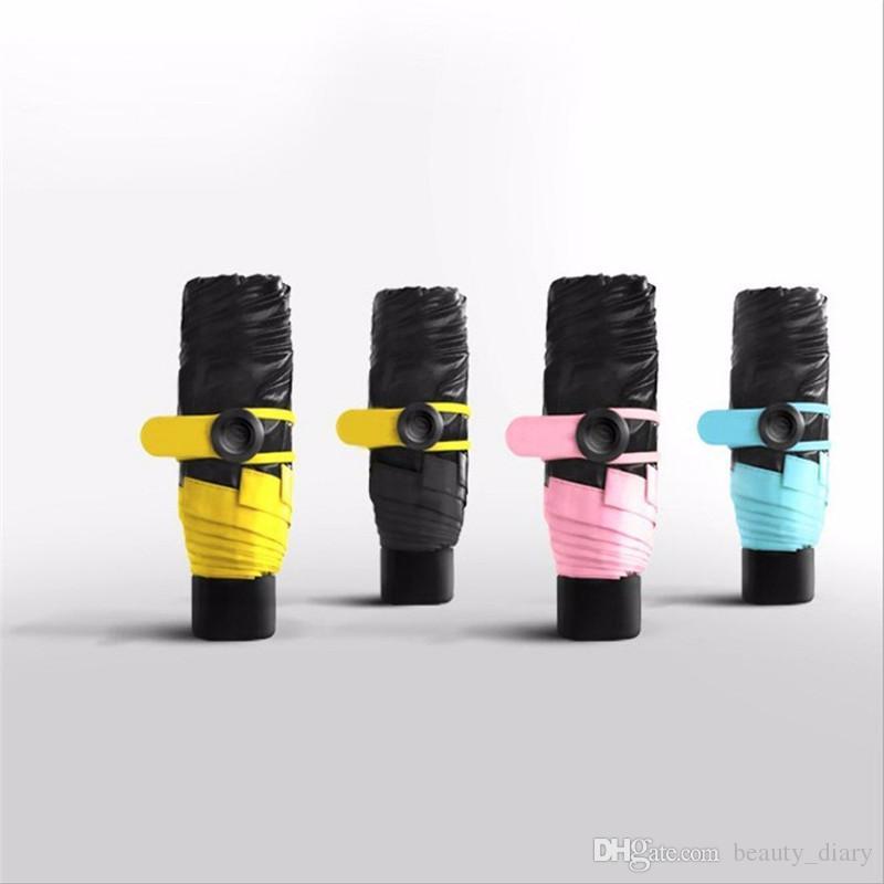 Качество мини-карманный зонтик женщин Солнечный и дождливый мини-мода складные зонтики, 195г небольшой зонтик зонтик дождь женщин