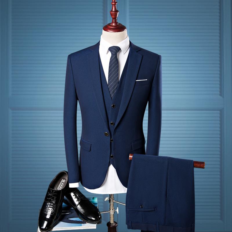 Acheter Vestes Costumes Hommes + Costumes Pantalons + Gilet Mâle 2017  Nouvelle Vente Chaude De Mode Business Garçons Banquet De Mariage Meilleurs  Vêtements ... 39eb68bd037