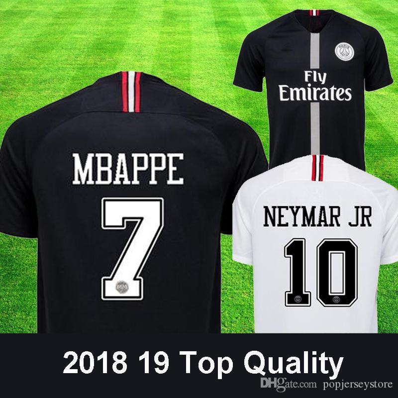 2019 Thailand Black White Maillot Psg 3rd Soccer Jersey 2018 2019 Maillot  De Foot MBAPPE CAVANI BUFFON Jersey 18 19 Football Kits Soccer Shirt From  ... 4650ef693