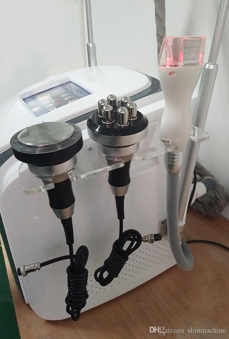 La grasa de alta intensidad de congelación manija de la máquina de la cintura que adelgaza la Lipo Laser + 40K + RF + + Gran Cryo Pequeño Cryo manija + mango mini Cryo para el tratamiento del cuerpo