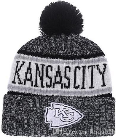69855fc6 2019 American City All Team Kansas City Beanies KC Sports Pom Men Women  Sideline Cold Weather Reverse Knit Hat Official Graphite Black Cap