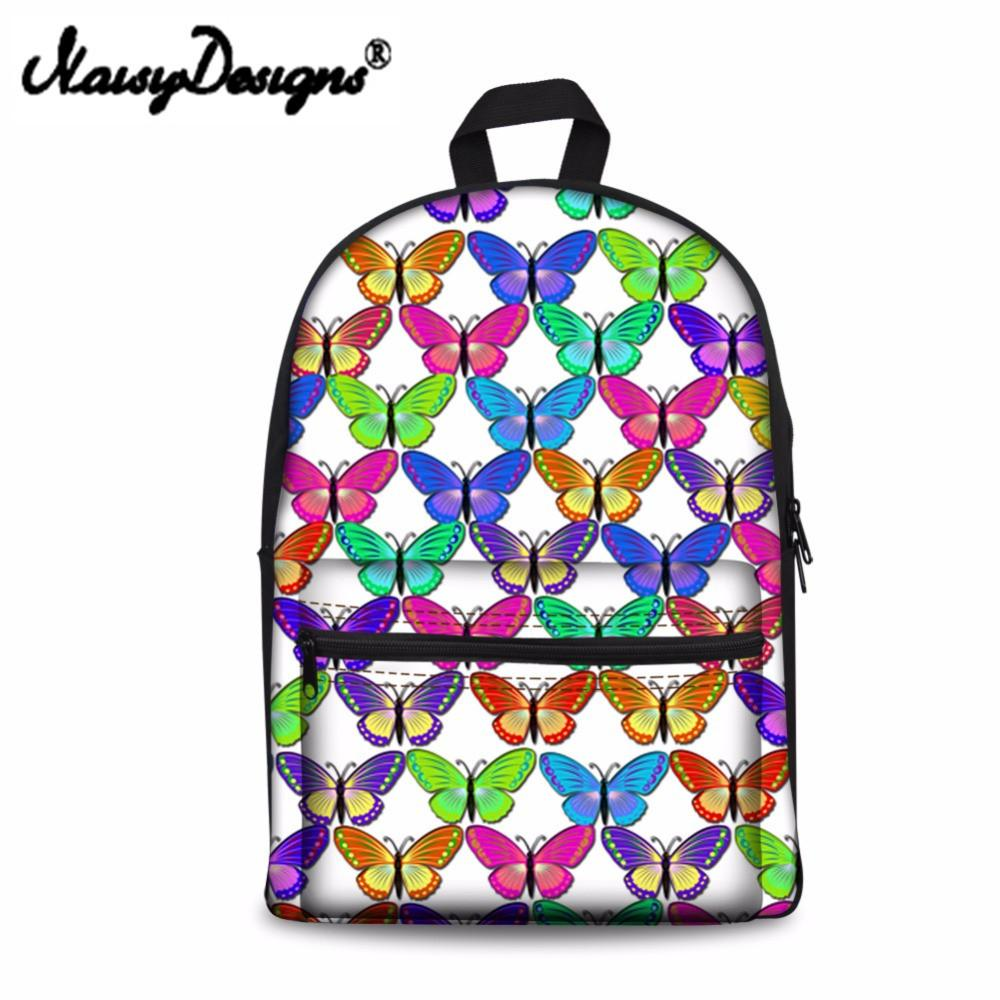 3a7760580579 Noisydesigns Butterfly Funny Printed Kids School Bags Girls Teenage Student  Casual Canvas Children Bookpack Bag Cute Dog Y18110107 Leather Backpack  Backpack ...