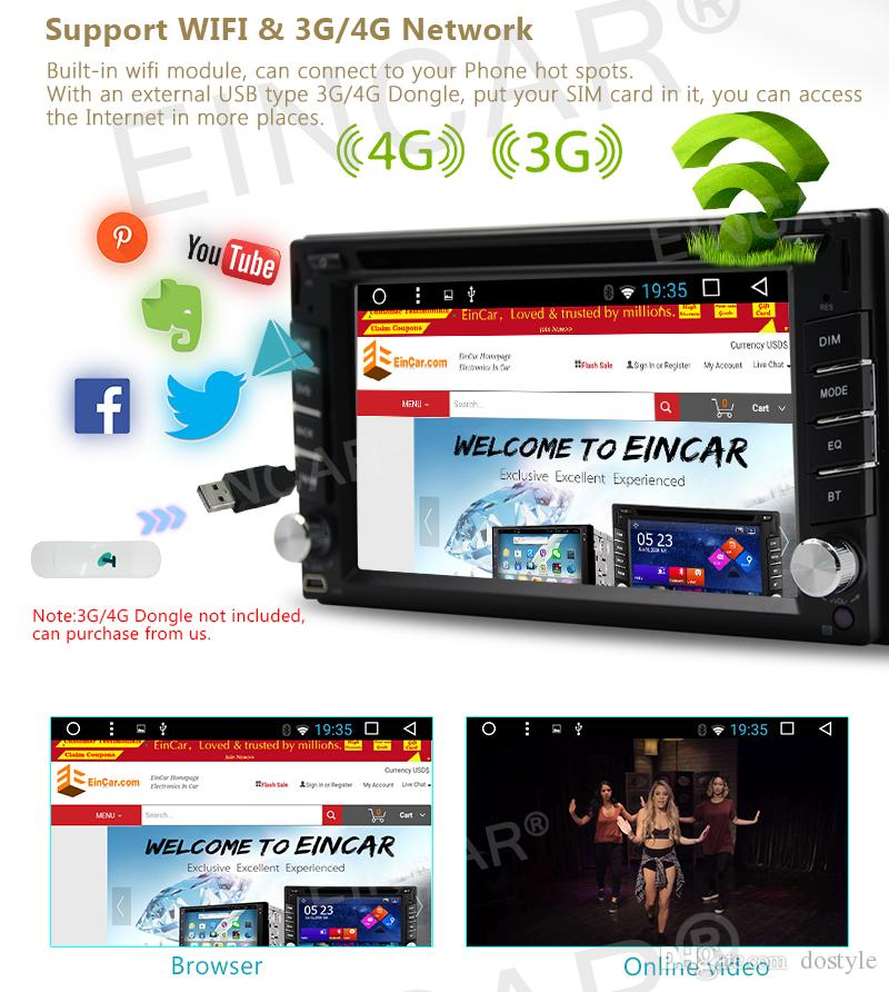 Yedekleme Kamera + Dash Dört Çekirdekli çift din Android 6.0 Ses Stereo GPS radyo Wifi Bluetooth autoradio araba DVD cd Çalar Otomotiv ana ünite
